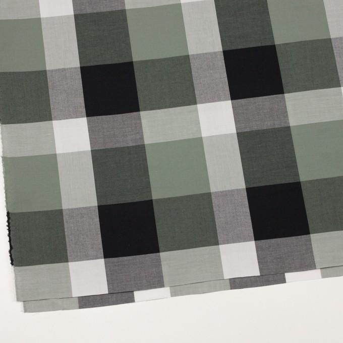 コットン×チェック(スレートグリーン&ブラック)×ブロード イメージ2