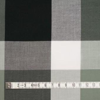 コットン×チェック(スレートグリーン&ブラック)×ブロード サムネイル4