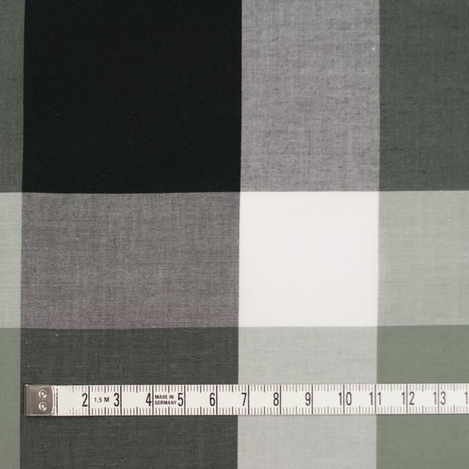 コットン×チェック(スレートグリーン&ブラック)×ブロード イメージ4