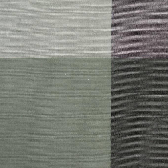 コットン×チェック(スレートグリーン&ブラック)×ブロード イメージ1