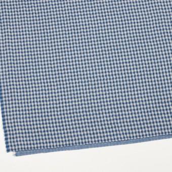 コットン×チェック(ブルー)×ガーゼ&サージ_全2色 サムネイル2