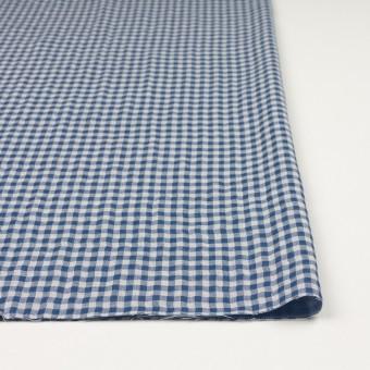 コットン×チェック(ブルー)×ガーゼ&サージ_全2色 サムネイル3