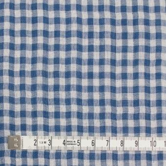 コットン×チェック(ブルー)×ガーゼ&サージ_全2色 サムネイル4