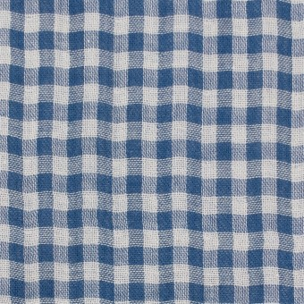 コットン×チェック(ブルー)×ガーゼ&サージ_全2色