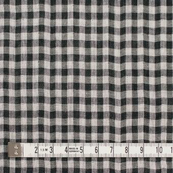 コットン×チェック(ブラック)×ガーゼ&サージ_全2色 サムネイル4