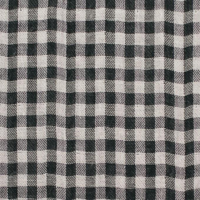 コットン×チェック(ブラック)×ガーゼ&サージ_全2色 イメージ1