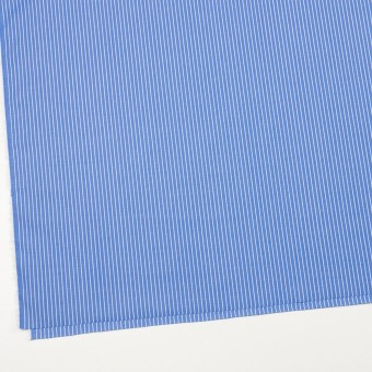 コットン×ストライプ(サックスブルー)×ブロード_全2色 サムネイル2