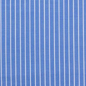 コットン×ストライプ(サックスブルー)×ブロード_全2色