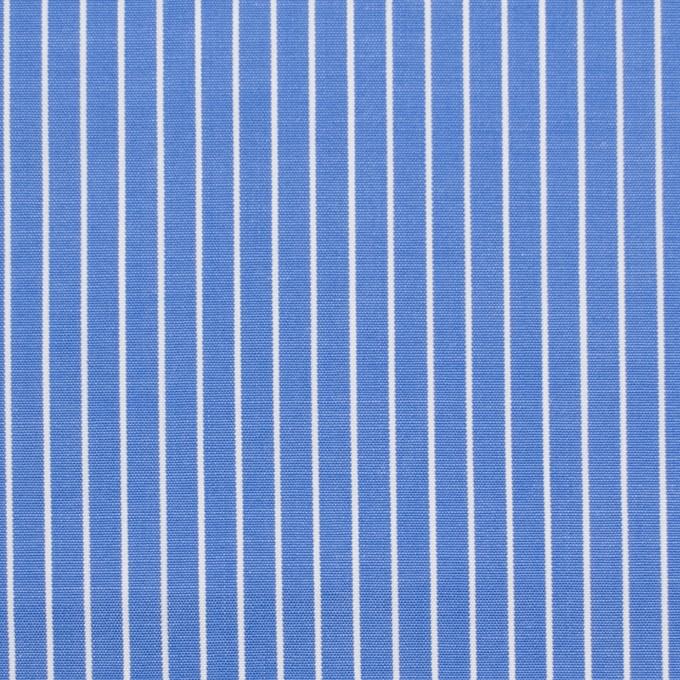 コットン×ストライプ(サックスブルー)×ブロード_全2色 イメージ1