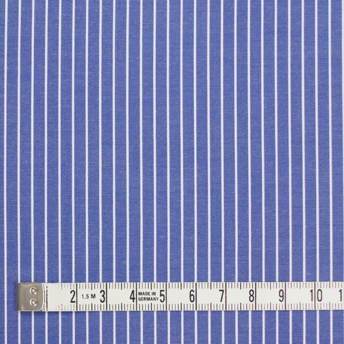 コットン×ストライプ(ヒヤシンスブルー)×ブロード_全2色 イメージ4