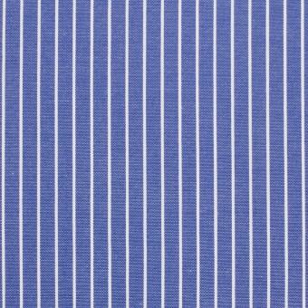 コットン×ストライプ(ヒヤシンスブルー)×ブロード_全2色