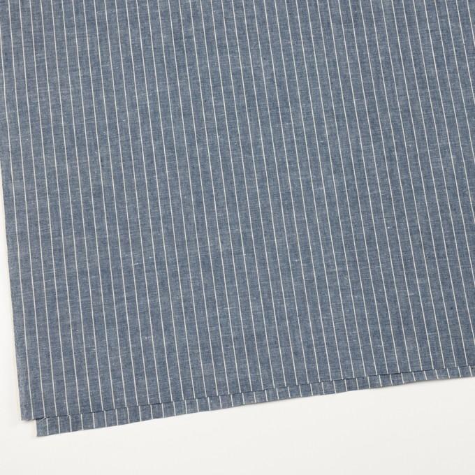 コットン&リネン×ストライプ(ブルーグレー)×薄キャンバス イメージ2