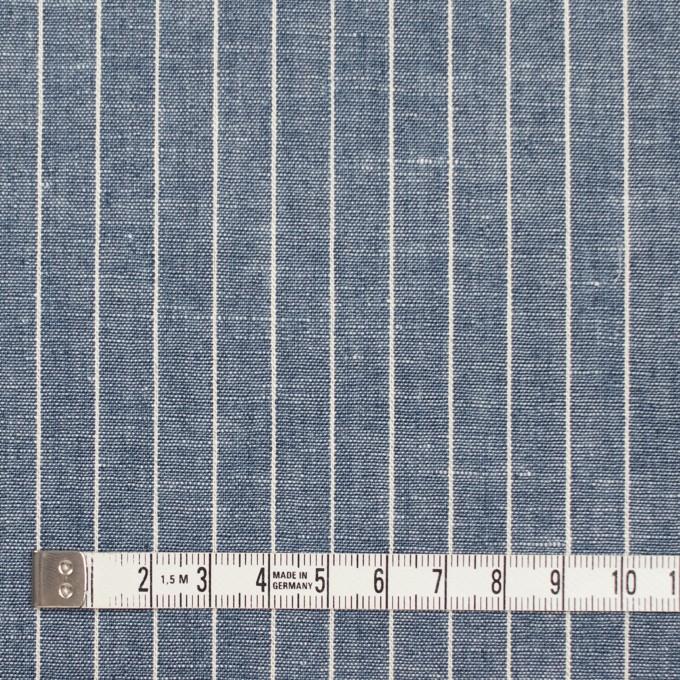 コットン&リネン×ストライプ(ブルーグレー)×薄キャンバス イメージ4