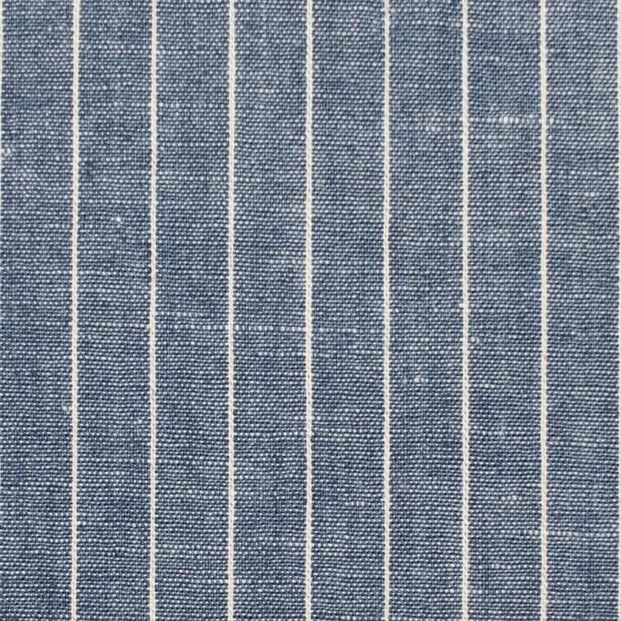 コットン&リネン×ストライプ(ブルーグレー)×薄キャンバス イメージ1