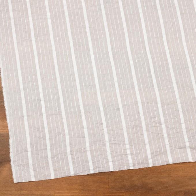 コットン&リネン×ストライプ(オフホワイト)×ボイルジャガードワッシャー イメージ2