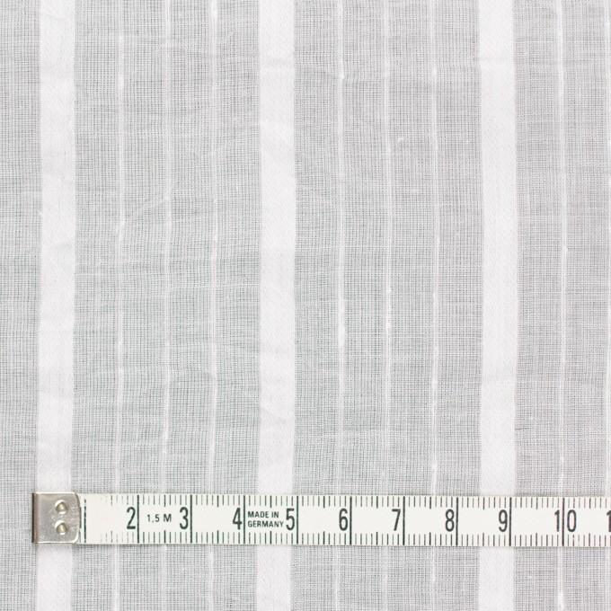 コットン&リネン×ストライプ(オフホワイト)×ボイルジャガードワッシャー イメージ4
