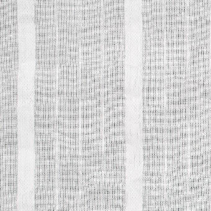 コットン&リネン×ストライプ(オフホワイト)×ボイルジャガードワッシャー イメージ1