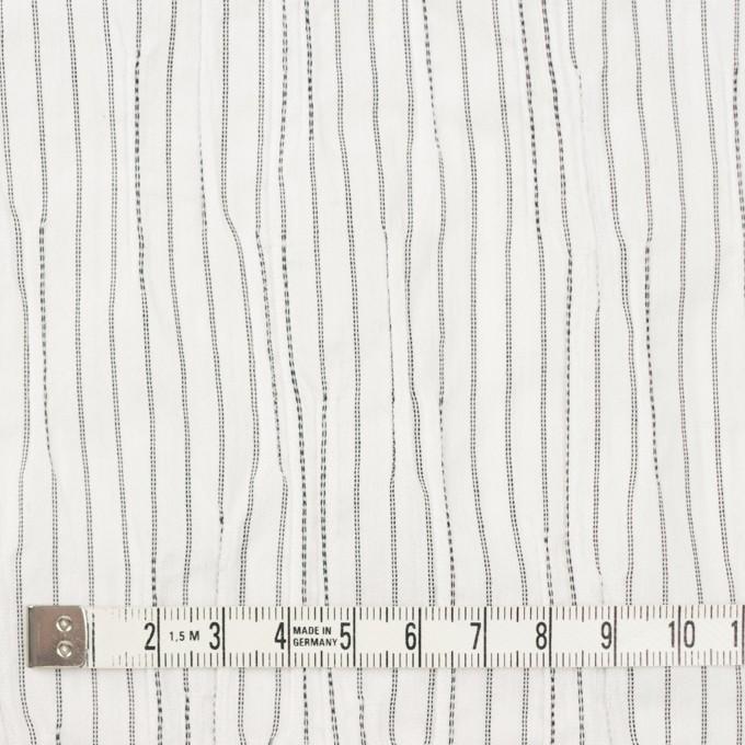 コットン&ナイロン混×ストライプ(オフホワイト&ブラック)×タテタック イメージ4