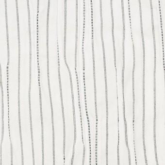 コットン&ナイロン混×ストライプ(オフホワイト&ブラック)×タテタック サムネイル1