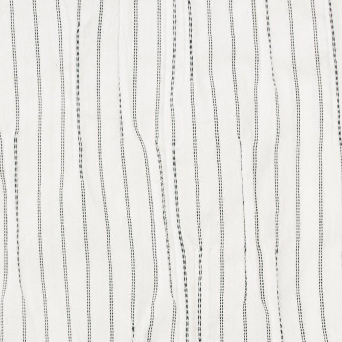 コットン&ナイロン混×ストライプ(オフホワイト&ブラック)×タテタック イメージ1