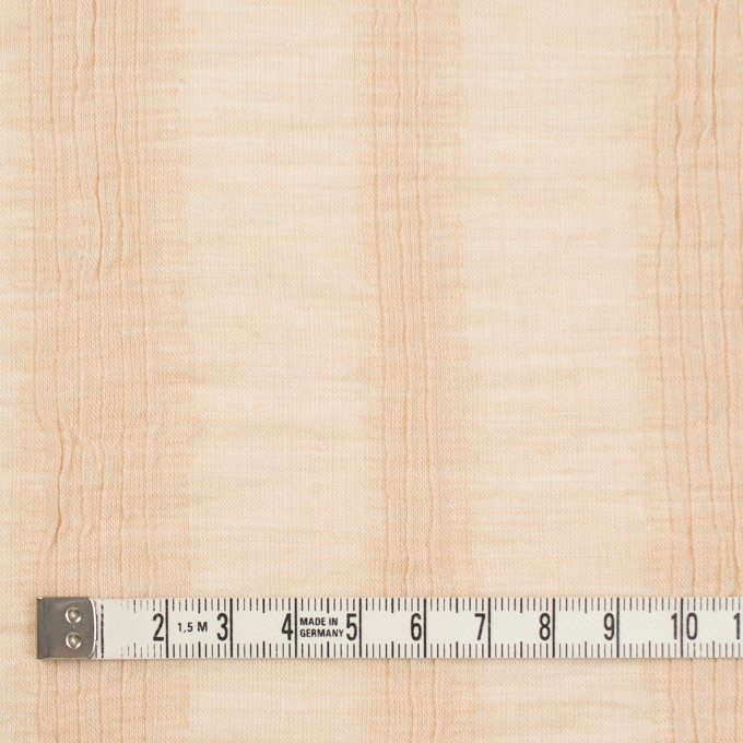 コットン&ポリウレタン×無地(ベージュ)×ボイルタテタック イメージ4