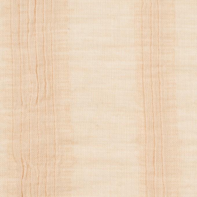 コットン&ポリウレタン×無地(ベージュ)×ボイルタテタック イメージ1