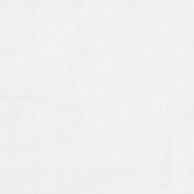 コットン×無地(ホワイト)×Wガーゼワッシャー_全20色 イメージ1