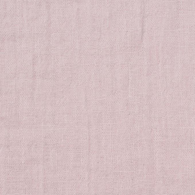 コットン×無地(グレイッシュピンク)×Wガーゼワッシャー_全20色 イメージ1