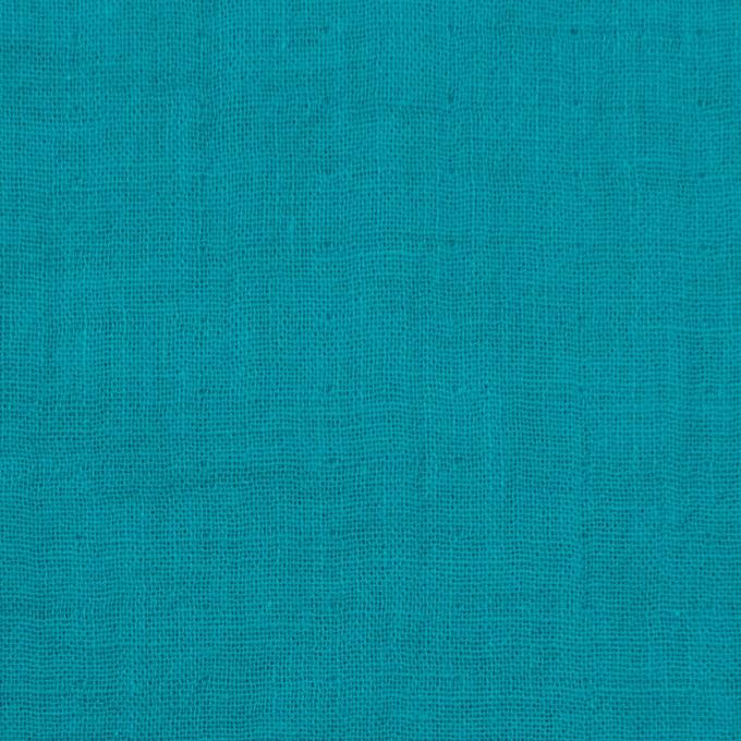 コットン×無地(エメラルドブルー)×Wガーゼワッシャー_全20色 イメージ1