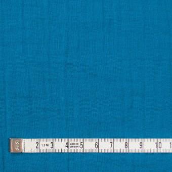 コットン×無地(ターコイズブルー)×Wガーゼワッシャー_全20色 サムネイル4