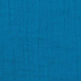 コットン×無地(ターコイズブルー)×Wガーゼワッシャー_全20色