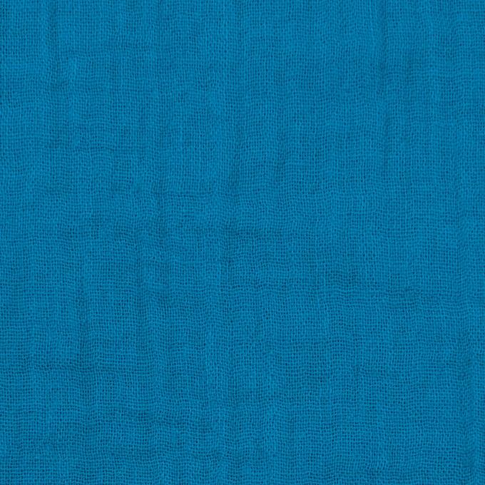 コットン×無地(ターコイズブルー)×Wガーゼワッシャー_全20色 イメージ1