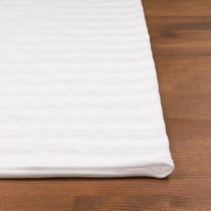 コットン&リネン×ボーダー(ホワイト)×天竺ニット_全3色_イタリア製 イメージ3