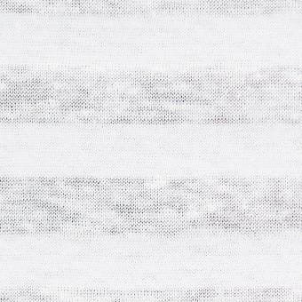 コットン&リネン×ボーダー(ホワイト)×天竺ニット_全3色_イタリア製