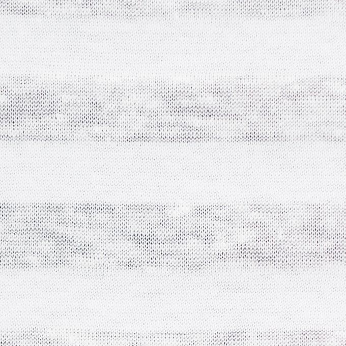 コットン&リネン×ボーダー(ホワイト)×天竺ニット_全3色_イタリア製 イメージ1