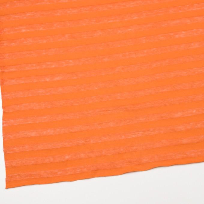 コットン&リネン×ボーダー(キャロット)×天竺ニット_全3色_イタリア製 イメージ2