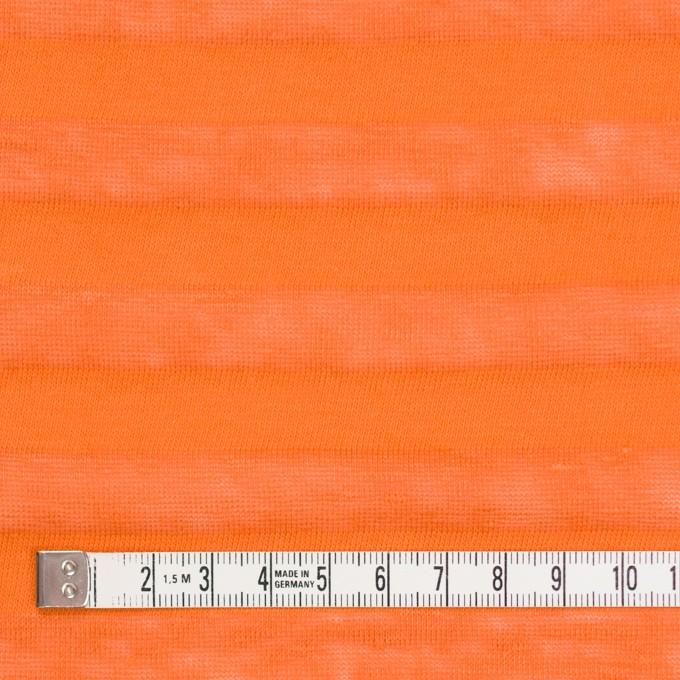 コットン&リネン×ボーダー(キャロット)×天竺ニット_全3色_イタリア製 イメージ4