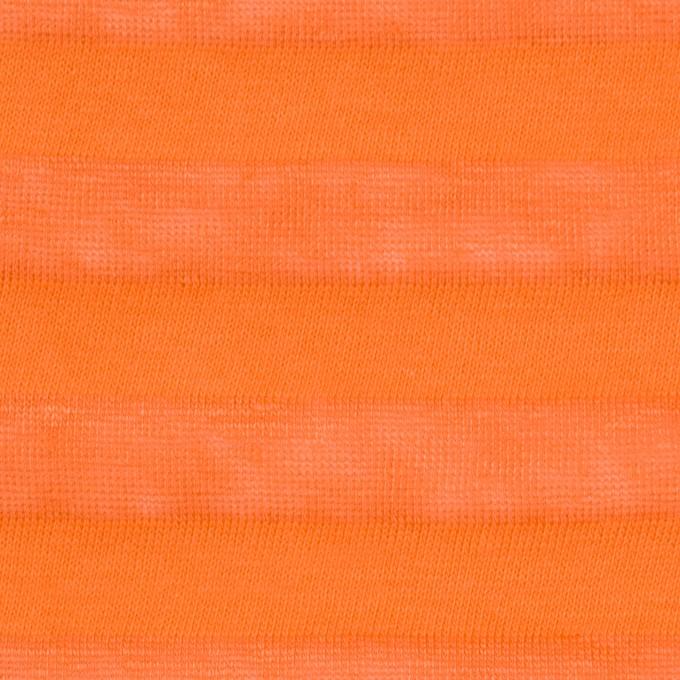 コットン&リネン×ボーダー(キャロット)×天竺ニット_全3色_イタリア製 イメージ1