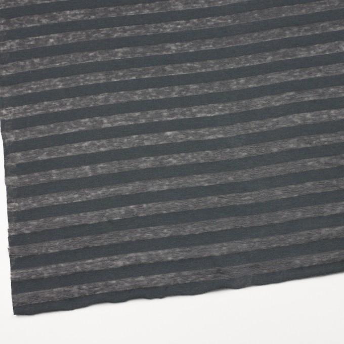 コットン&リネン×ボーダー(グーズグレー)×天竺ニット_全3色_イタリア製 イメージ2