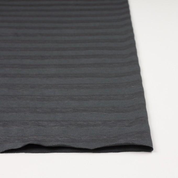 コットン&リネン×ボーダー(グーズグレー)×天竺ニット_全3色_イタリア製 イメージ3
