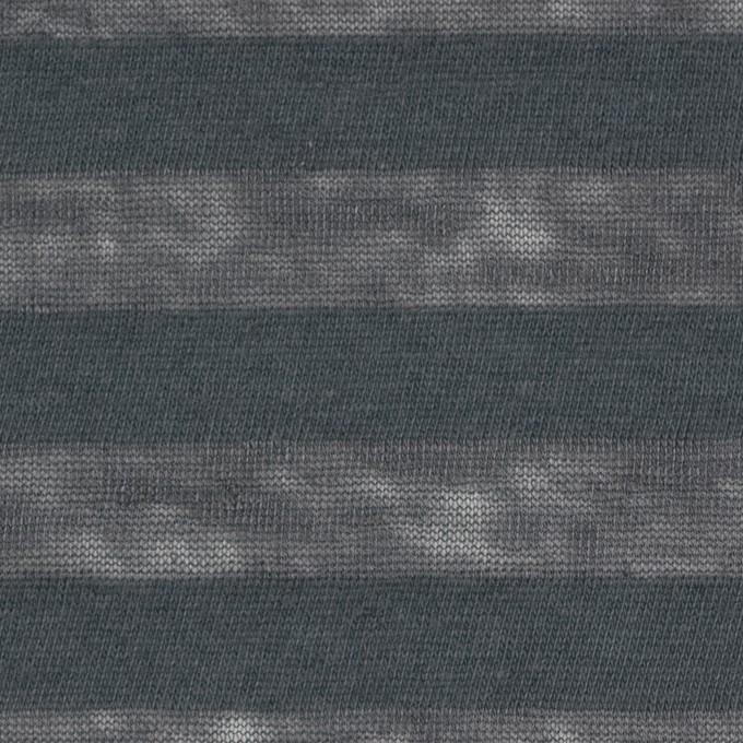 コットン&リネン×ボーダー(グーズグレー)×天竺ニット_全3色_イタリア製 イメージ1