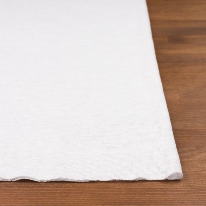 リネン×無地(ホワイト)×天竺ニット_全5色 イメージ3