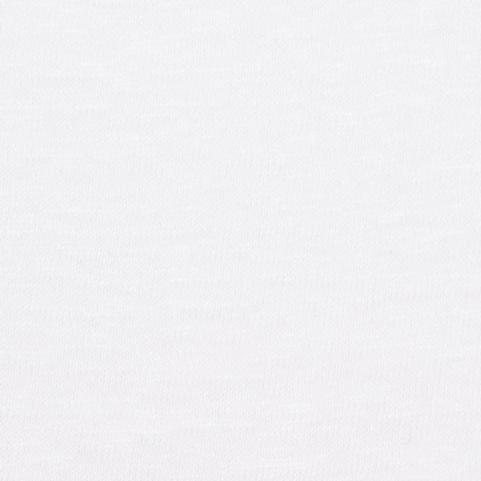 リネン×無地(ホワイト)×天竺ニット_全5色 イメージ1