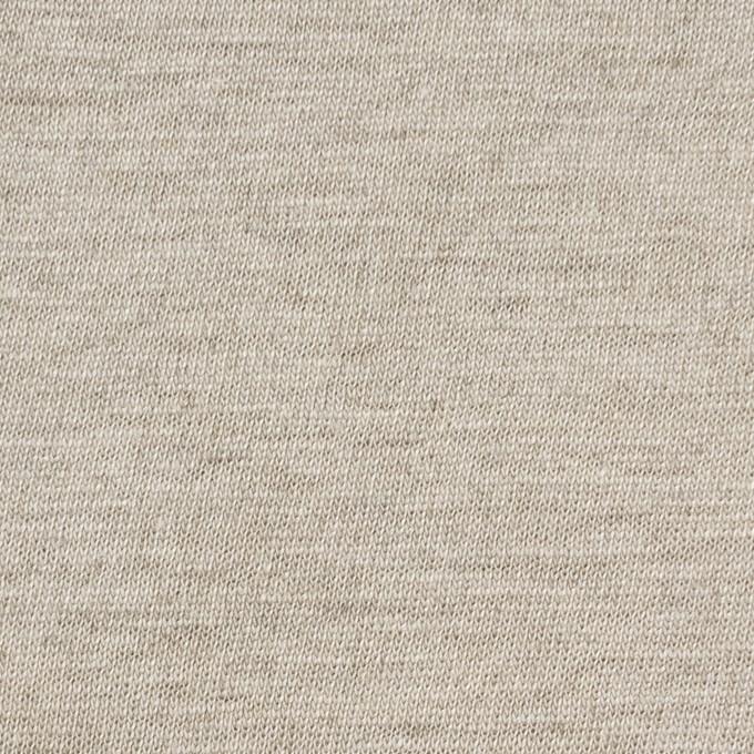 リネン×無地(グレイッシュベージュ)×天竺ニット_全5色 イメージ1