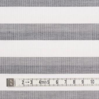 コットン×ボーダー(ホワイト&グレー)空羽シャンブレー サムネイル4