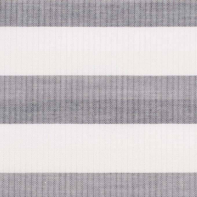 コットン×ボーダー(ホワイト&グレー)空羽シャンブレー イメージ1