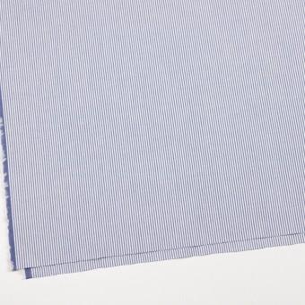 コットン&ポリウレタン×ストライプ(ブルー)×コードレーンストレッチ サムネイル2