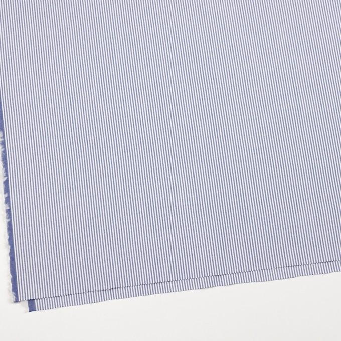 コットン&ポリウレタン×ストライプ(ブルー)×コードレーンストレッチ イメージ2