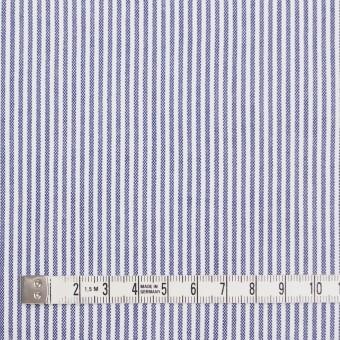 コットン&ポリウレタン×ストライプ(ブルー)×コードレーンストレッチ サムネイル4
