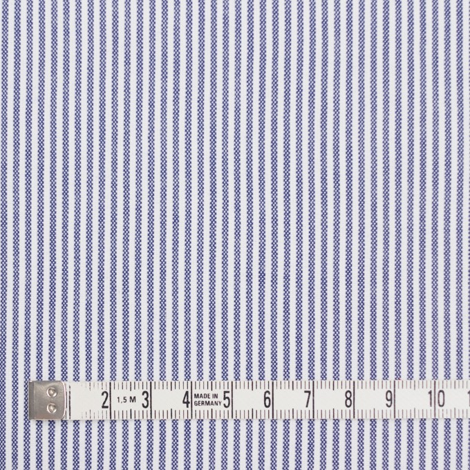 コットン&ポリウレタン×ストライプ(ブルー)×コードレーンストレッチ イメージ4